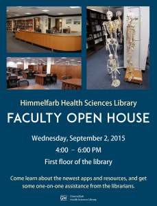 Faculty Open House @ Himmelfarb