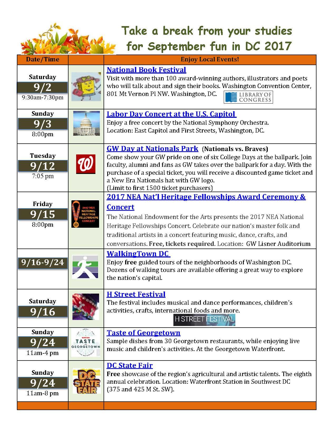 September 2017 Events-Healthy Living-Soc Media