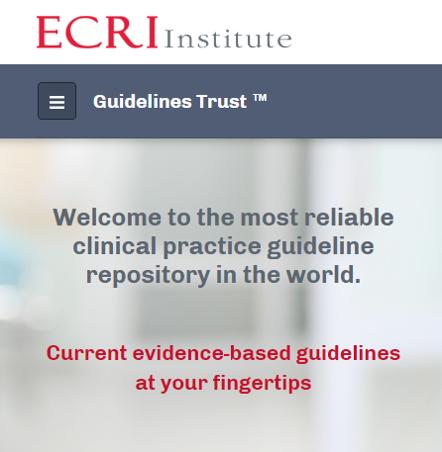 ECRI Guidelines Trust