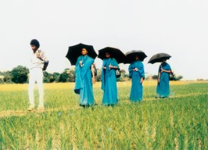 Bangladesh Rural Advancement Committee workers traveling to communities, 1980s